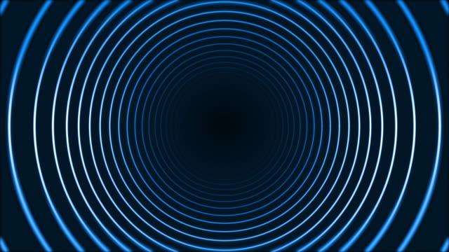 4k glödande neoncirkelringar abstrakt bakgrund - kommunikationssätt bildbanksvideor och videomaterial från bakom kulisserna