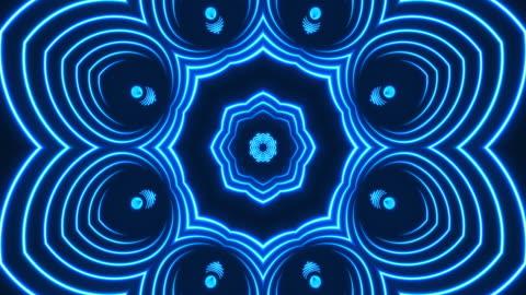 stockvideo's en b-roll-footage met gloeiende neon caleidoscoop lights-loopable - vj