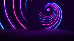 Glowing Neon Lights - Golden Ratio Backgrounds - Loopable