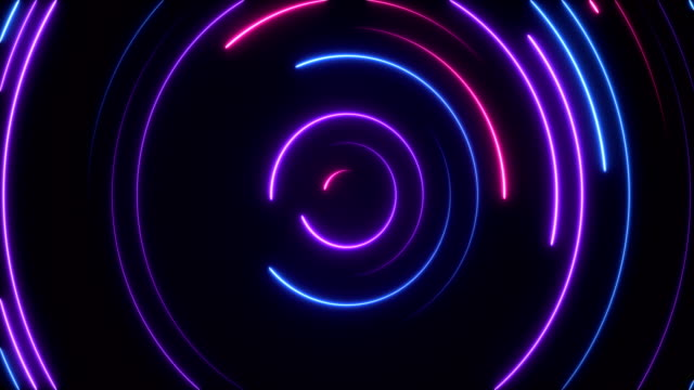 glowing neon lights - loopable - spinning stock videos & royalty-free footage