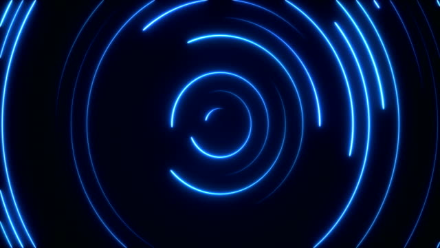 glowing neon lights - loopable - spiral stock videos & royalty-free footage