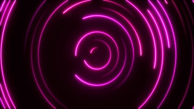 glowing neon lights - loopable - neon lighting stock videos & royalty-free footage