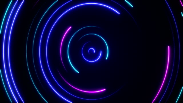 glowing neon lights - loopable - swirl pattern stock videos & royalty-free footage