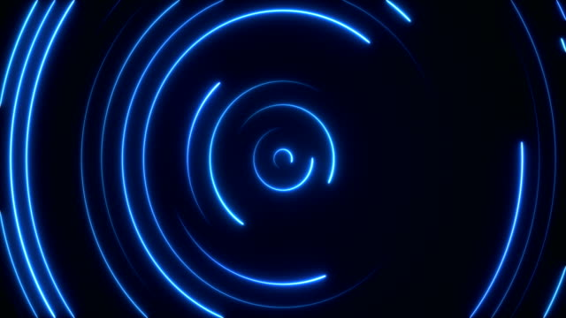 glowing neon lights - loopable - circle stock videos & royalty-free footage