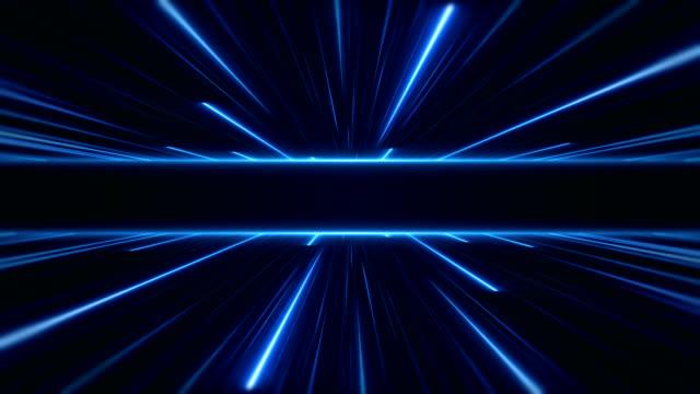 vídeos de stock e filmes b-roll de glowing neon lights - loopable - parede de vídeo