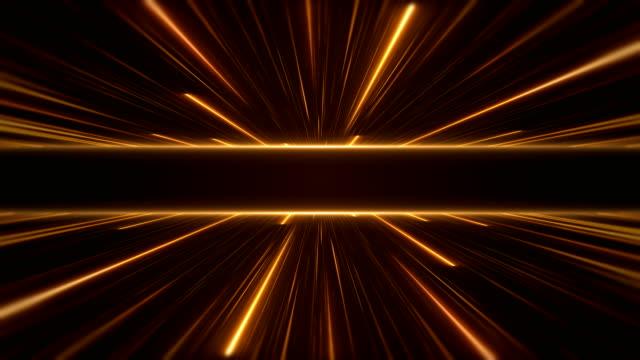 vídeos de stock e filmes b-roll de glowing neon lights - loopable - laser