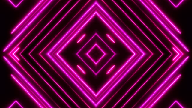 glowing neon lights - loopable - kaleidoscope pattern stock videos & royalty-free footage