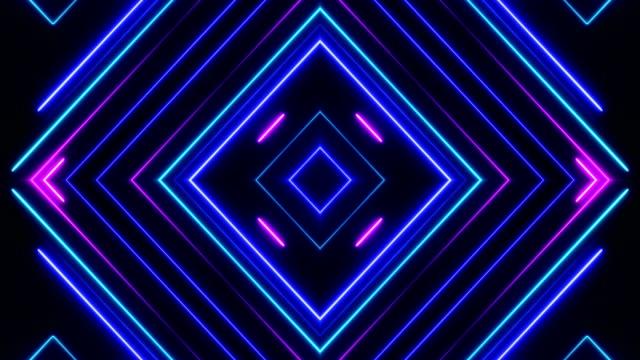 vídeos de stock e filmes b-roll de glowing neon lights - loopable - emprego na comunicação social