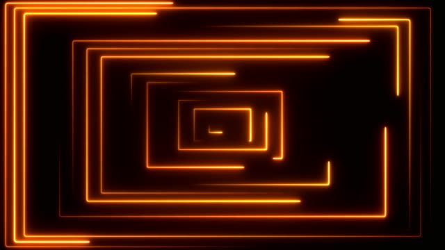 glowing neon lights - loopable - square composition stock videos & royalty-free footage
