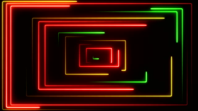 glowing neon lights - loopable - fluorescent light stock videos & royalty-free footage