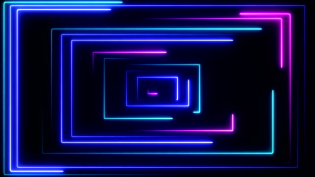 glowing neon lights - loopable - motion graphics stock videos & royalty-free footage