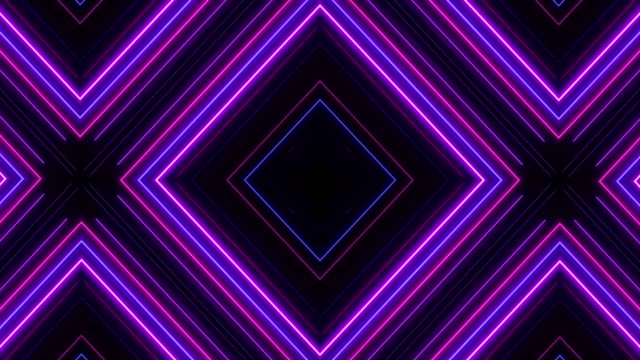 glowing neon lights - loopable - geometric stock videos & royalty-free footage