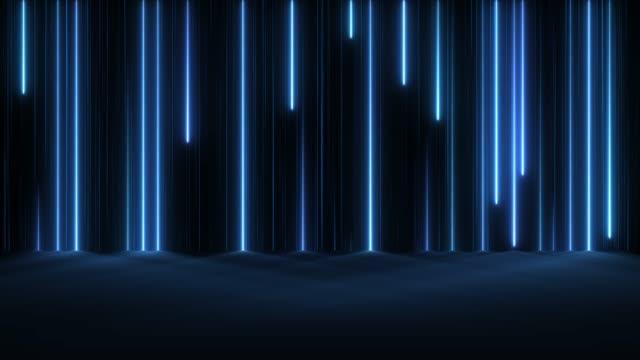 vídeos de stock e filmes b-roll de glowing neon lights - loopable - na superfície