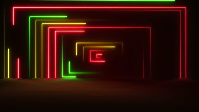 vidéos et rushes de néon lumineux-loopable - dancing