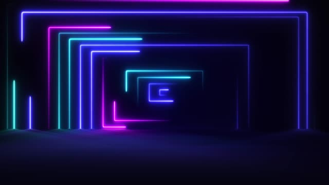 glowing neon lights - loopable - stage performance space stock videos & royalty-free footage