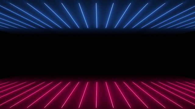 vidéos et rushes de lumières au néon rougeoyantes - loopable - dancing