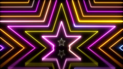 vídeos de stock, filmes e b-roll de luzes de néon brilhante - loopable - discoteca