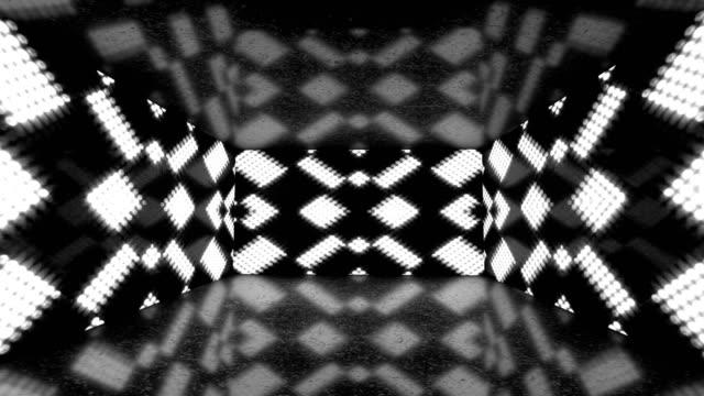 vidéos et rushes de glowing neon lights room - coloré ratio backgrounds - loopable stock video - nombre d'or
