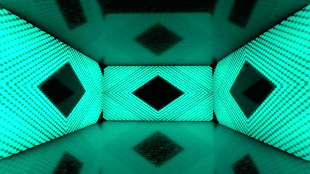 vídeos de stock e filmes b-roll de glowing neon lights room - colorful ratio backgrounds - loopable stock video - proporção áurea