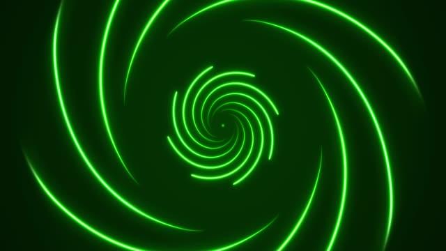 vídeos de stock e filmes b-roll de glowing neon lights - vaporwave spiral  backgrounds - loopable - proporção áurea