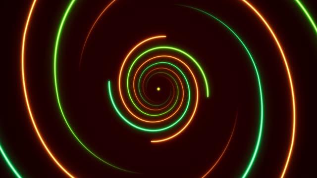 vidéos et rushes de néon lumineux-vaporwave spirale fonds-loopable - nombre d'or