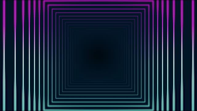 4k glödande neonrektangel abstrakt bakgrund - kommunikationssätt bildbanksvideor och videomaterial från bakom kulisserna