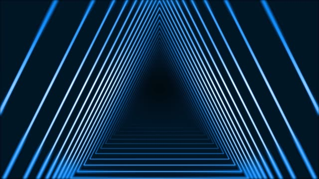 4k glowing neon triangle abstract background - triangle shape stock videos & royalty-free footage