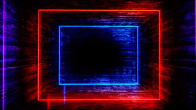 glowing neon tunnel. abstract seamless background. fluorescent ultraviolet light - spectrum stock videos & royalty-free footage