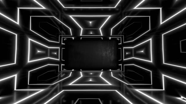 glowing neon tunnel. abstract seamless background. fluorescent ultraviolet light - igniting stock videos & royalty-free footage