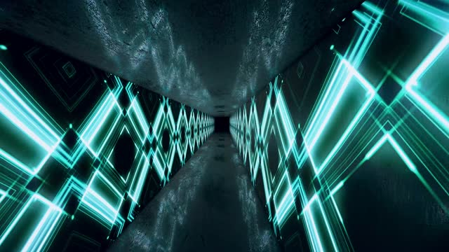 glowing neon tunnel. abstract seamless loop background. fluorescent ultraviolet light - spectrum stock videos & royalty-free footage