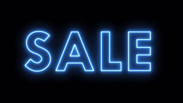 glowing sale text neon sign on brick background 4k animation stock video - price tag stock videos & royalty-free footage