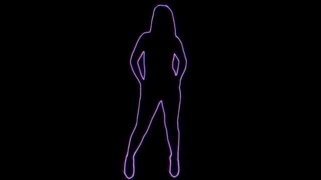leuchtende silhouette tanz - erotischer tanz stock-videos und b-roll-filmmaterial