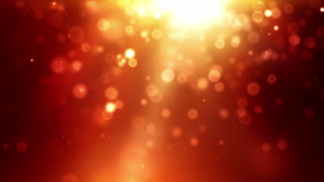 Glowing Sparkle Dots Background Loop - Fiery Red (Full HD)