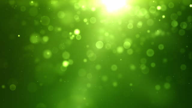 Glowing Sparkle Dots Background Loop - Vibrant Green (Full HD)
