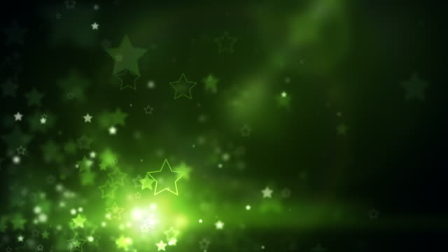 glowing stars background loop - neongreen (full hd) - bright colour stock videos & royalty-free footage