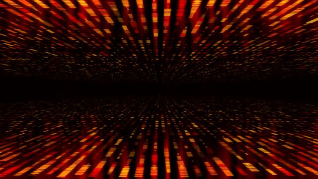 glühender gestreifter hintergrund mit abnehmender perspektive - fade in video transition stock-videos und b-roll-filmmaterial