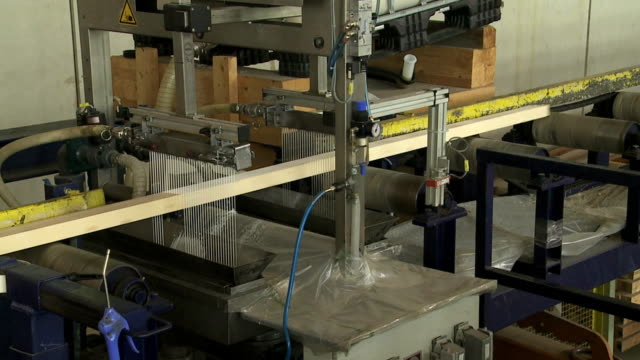 gluing lumber on the wood production line - glue stock videos and b-roll footage