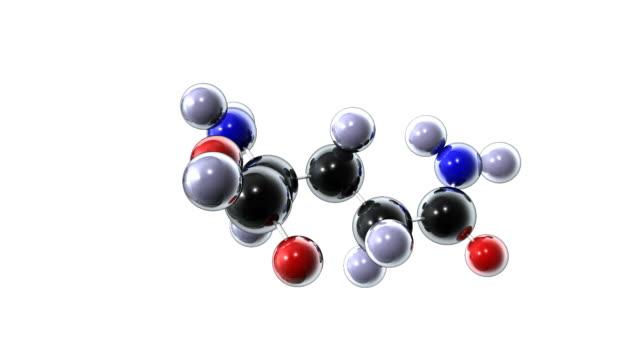 glutamine molecule - einzelner gegenstand stock-videos und b-roll-filmmaterial