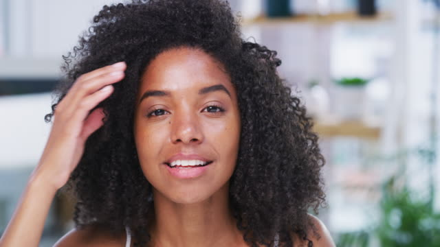 go ahead and rock the natural look - hair care stock videos & royalty-free footage