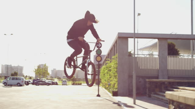go big or go home - bmx cycling stock videos and b-roll footage