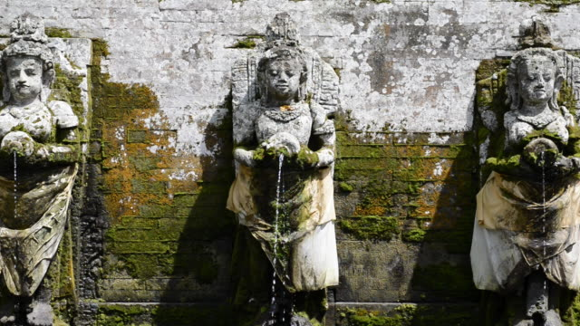 ms goa gajah bathing temple / ubud, indonesia - moss stock videos & royalty-free footage