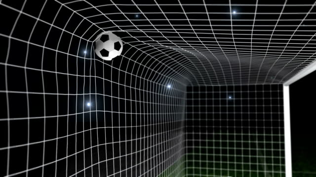 goal - football / soccer ball into net - soccer goal stock videos and b-roll footage