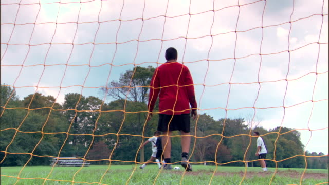 goalie missing soccer ball - see other clips from this shoot 1280 stock videos & royalty-free footage