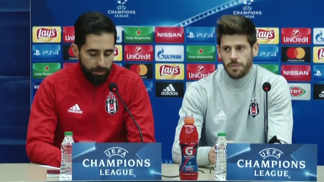 Goalkeeper Fabricio Agosto Ramirez of Besiktas holds a press conference ahead of UEFA Champions League Group G match between Besiktas and Porto at...