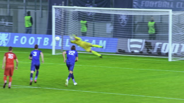 goalkeeper saves the penalty kick - vitality stock videos & royalty-free footage