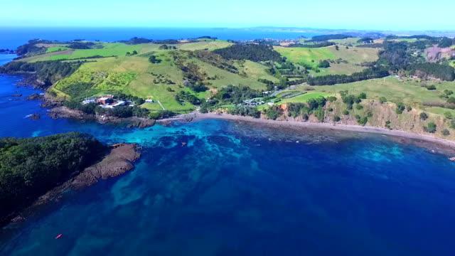ヤギ島 - ニュージーランド べイ・オブ・アイランズ点の映像素材/bロール
