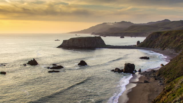 goat rock and blind beach - time lapse - tide stock videos & royalty-free footage