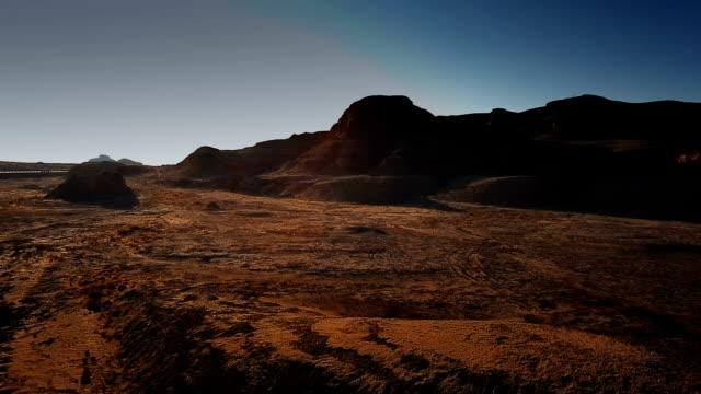 Vue aérienne de désert de Gobi