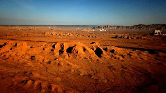 gobi desert aerial view - independent mongolia stock videos and b-roll footage