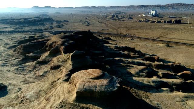 vidéos et rushes de vue aérienne de désert de gobi - désert de gobi